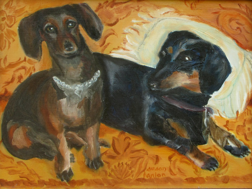 Doxie Duo 9x12
