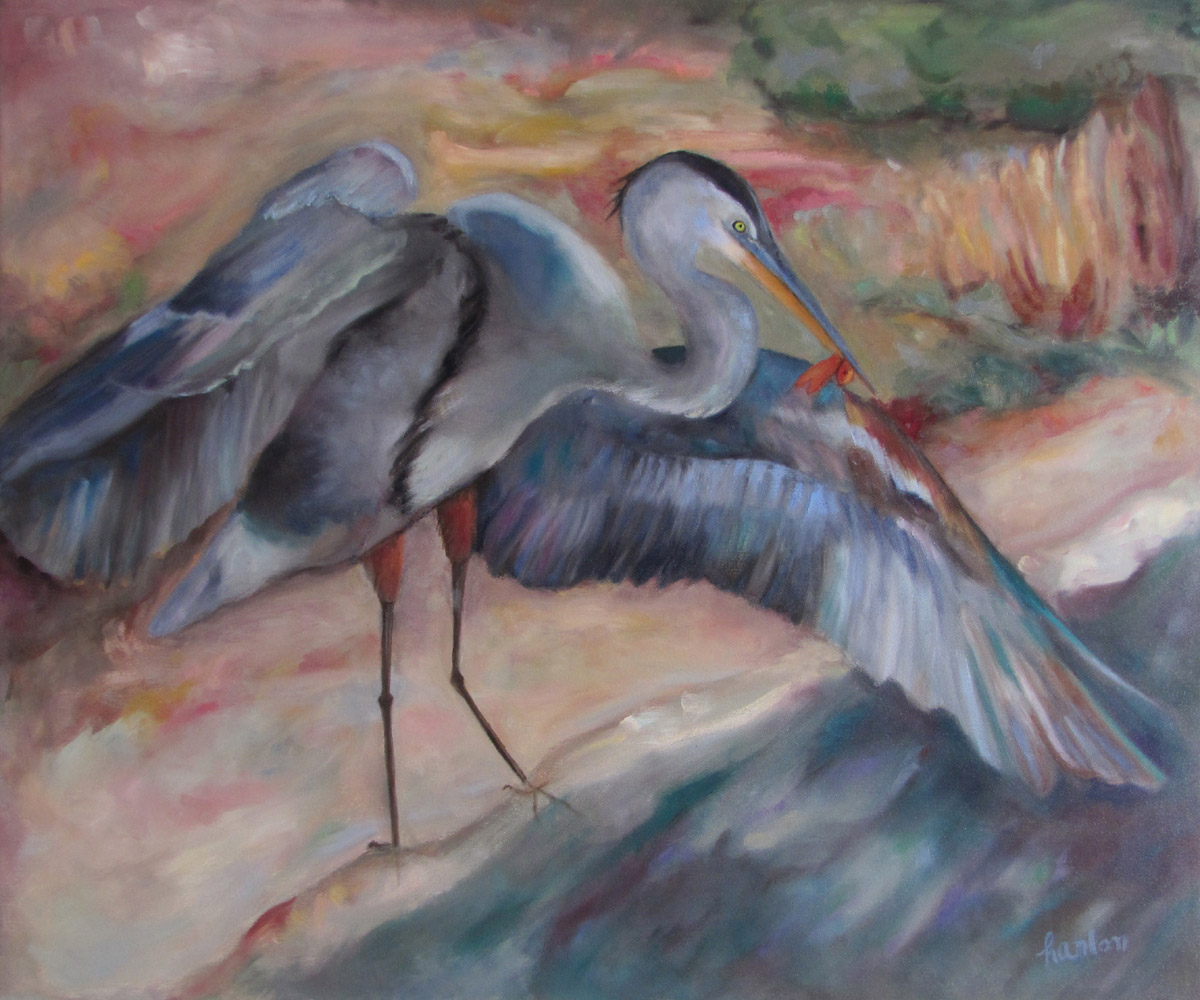 Great Blue Heron 30x36