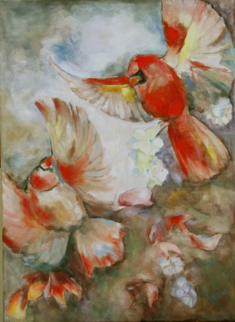 The Dance of the Cardinals 22x16